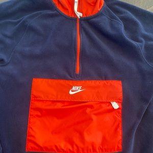 Nike 3/4 zip fleece jacket with zipper pouch